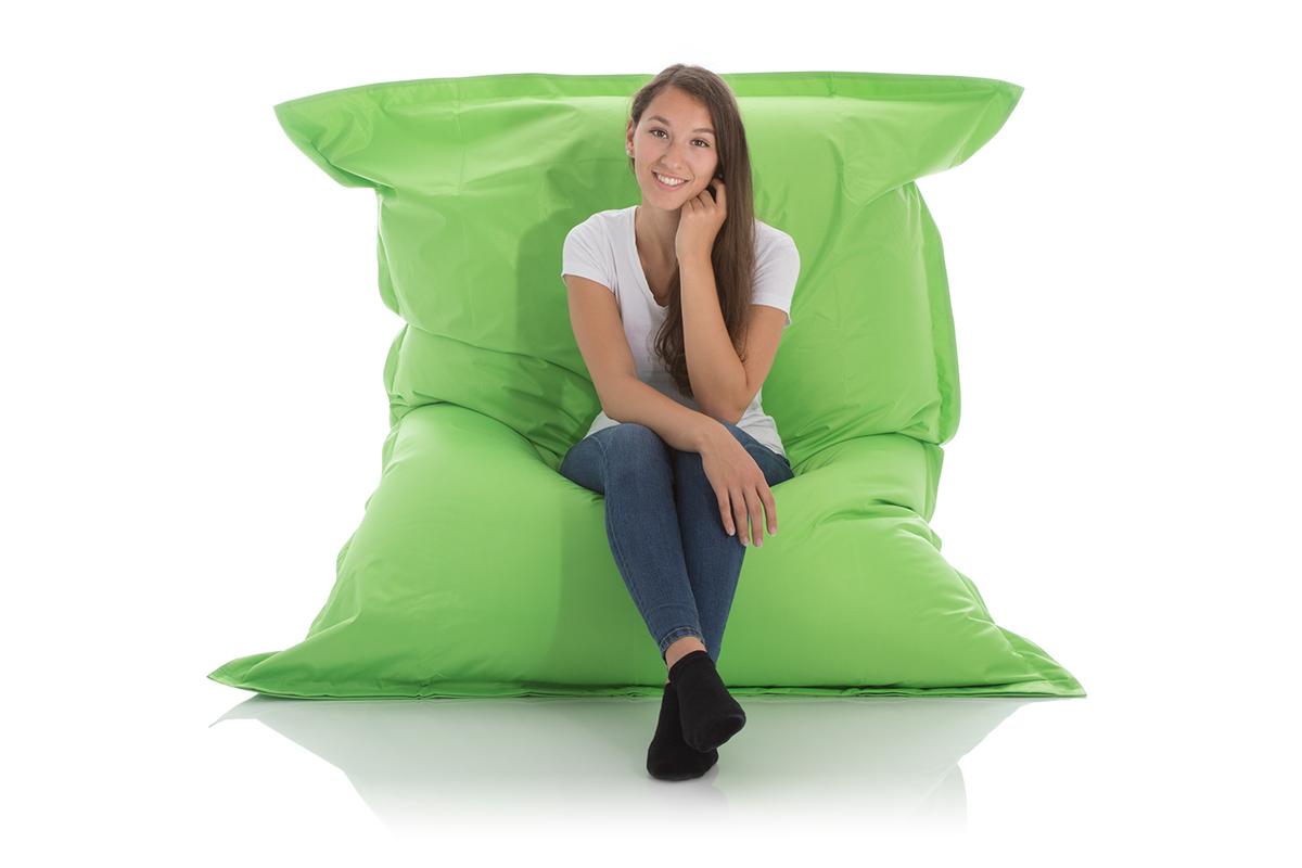 XXL-Outdoor-Sitzsack grün 140x180 cm für Garten und Balkon