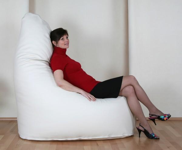 SitJoy Sitzgondel Gigant   Luxury Leder   Beige