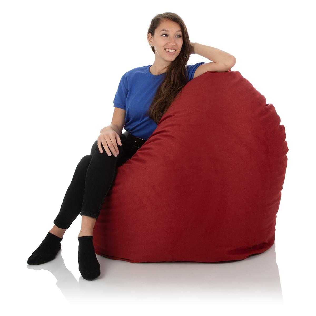 frago XXL Sitzsack Sitzkissen Relax orange mit 600 Liter Füllung