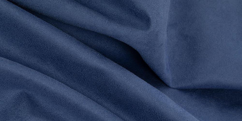 Eine Nahaufnahme einer blauen Sitzsack Außenhülle aus Premium Microfaser