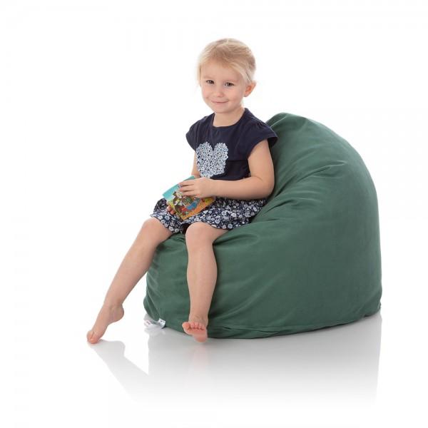 Kinder-Sitzsack Piccolo | Premium Microfaser | Zederngrün