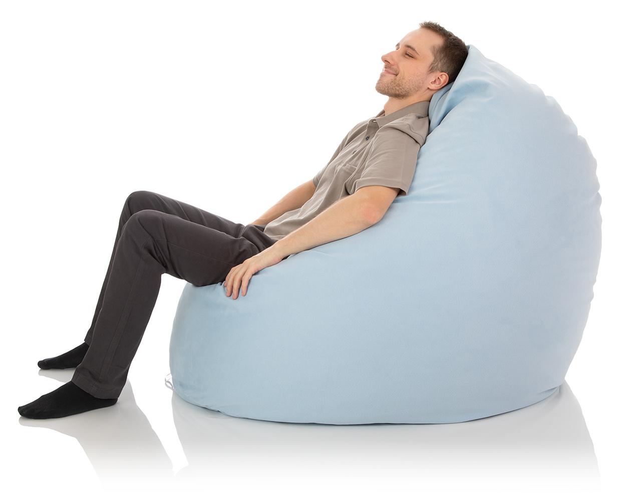 Riesen-Sitzsack XXL für das Kinderzimmer oder Wohnzimmer in hell-blau mit ca. 800 Liter Sitzsack-Füllung