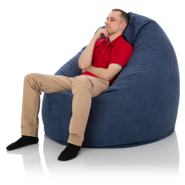 Sitzsack Herkules | Premium Microfaser | Mitternachtsblau