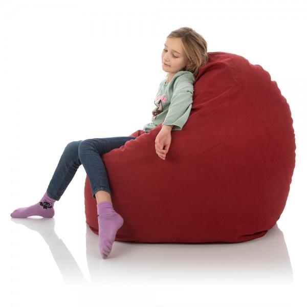 Kinder-Sitzsack Sunny | Microfaser Premium | Bordeauxrot