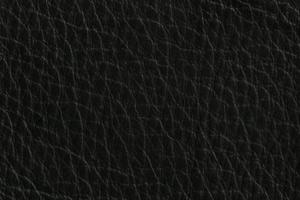 Luxury Leder Sitzsack Nacht-Schwarz