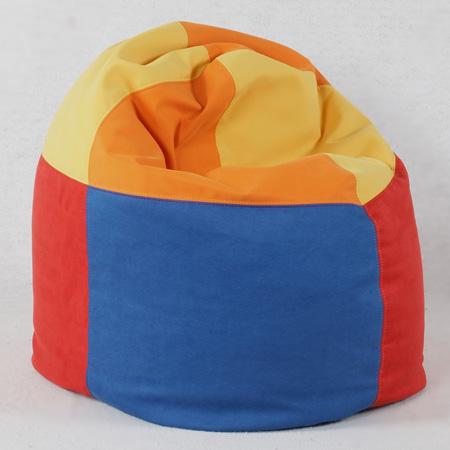 3-5778-sitzsack-piccolo-royalblau-microfaser-zinnoberrot-gelb-orange-vierfarbig-je-beidseitig-geviertelt-farben-1-2-3-4-und-4-3-2-1