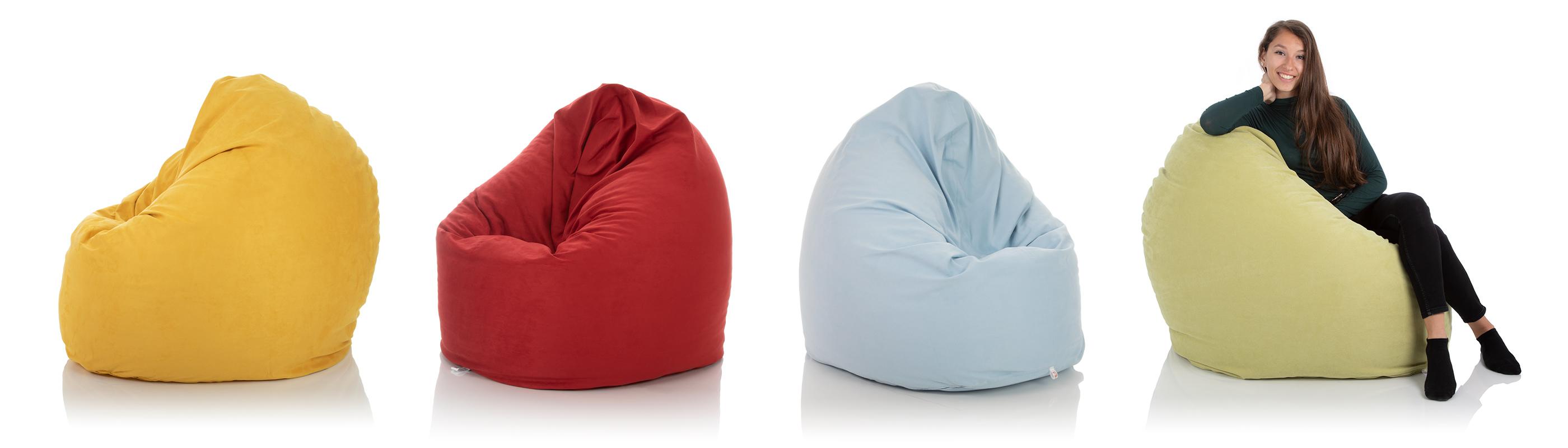 XXL Indoor Sitzsack Relax in gelb, rot, blau, gruen mit 600 Liter Füllung