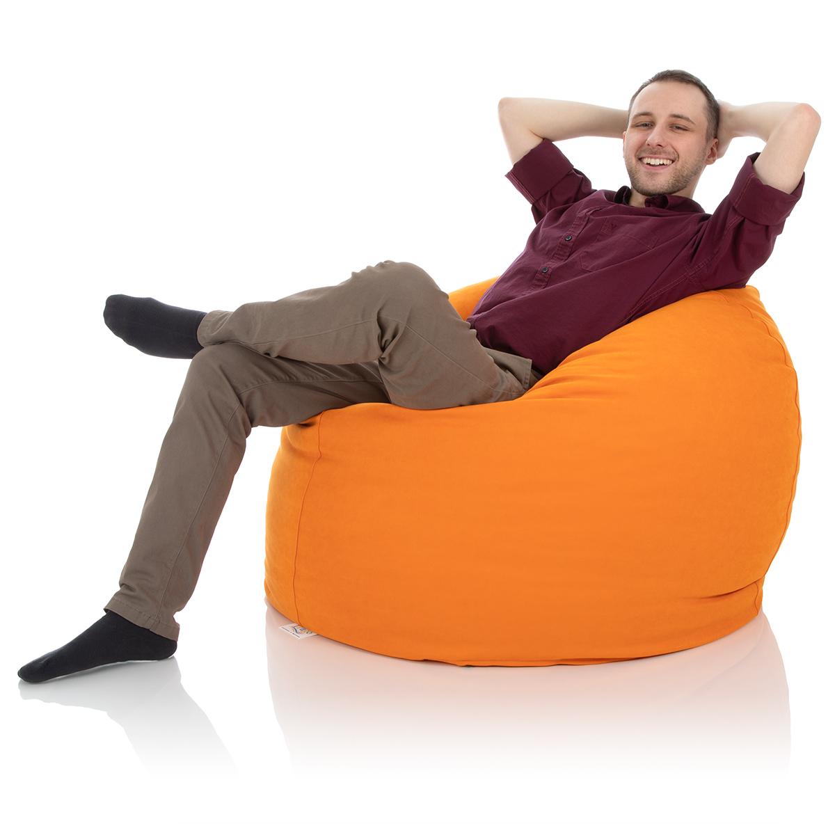 Kinder Sitzsack orange für das Kinderzimmer mit 550 Litern Füllung