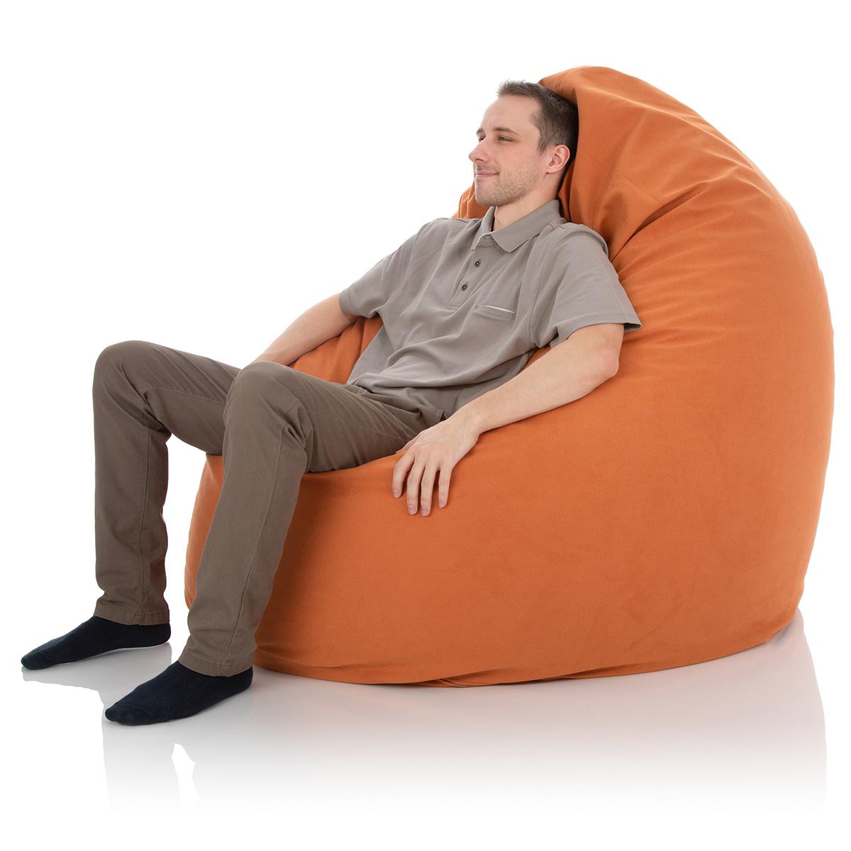 Riesen-Sitzsack XXL für das Kinderzimmer oder Wohnzimmer in orange-terrakotta mit ca. 1000 Liter Sitzsack-Füllung