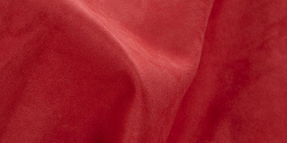 Feine, wildlederartige Sitzsack Außenhülle rot aus Premium Microfaser