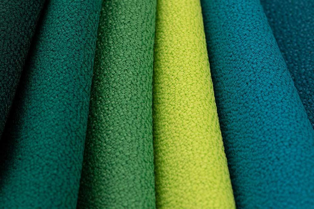 Schwer entflammbarer Stoff für Sitzsäcke und Kissen in grün