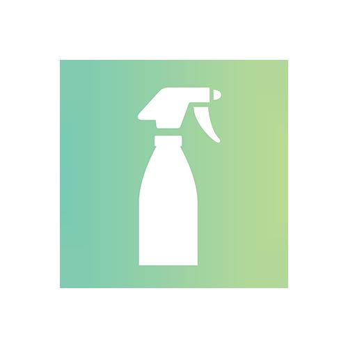 Logo Sprühflasche Pflege