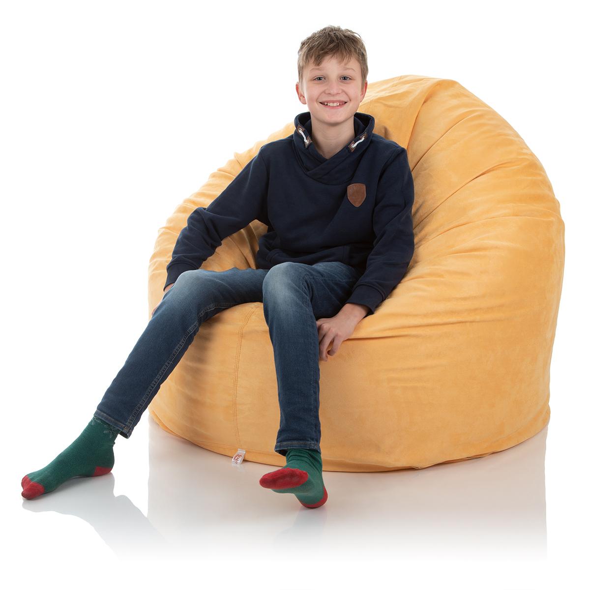 Riesen-Sitzsack XXL für das Kinderzimmer oder Wohnzimmer in gelb-sand mit ca. 1000 Liter Füllmaterial