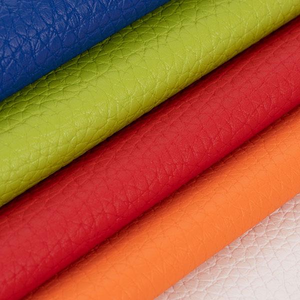 Sitzsack Stoff aus Kunstleder in blau, grün, rot, orange und weiß