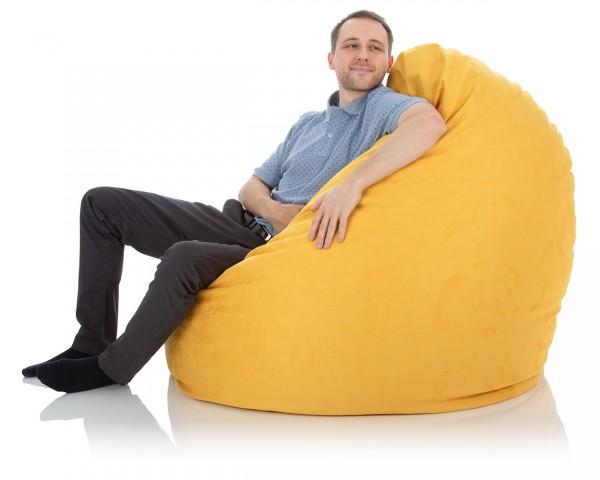 Sitzsack Goliath | Microfaser Premium | Sonnenblumengelb
