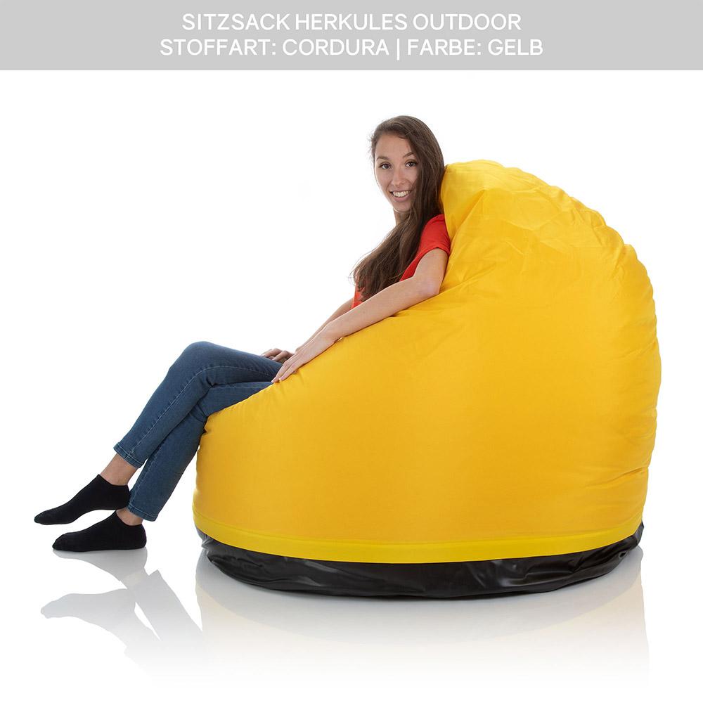 SitJoy Riesen Sitzsack Outdoor Herkules gelb mit 1000 Liter Füllung