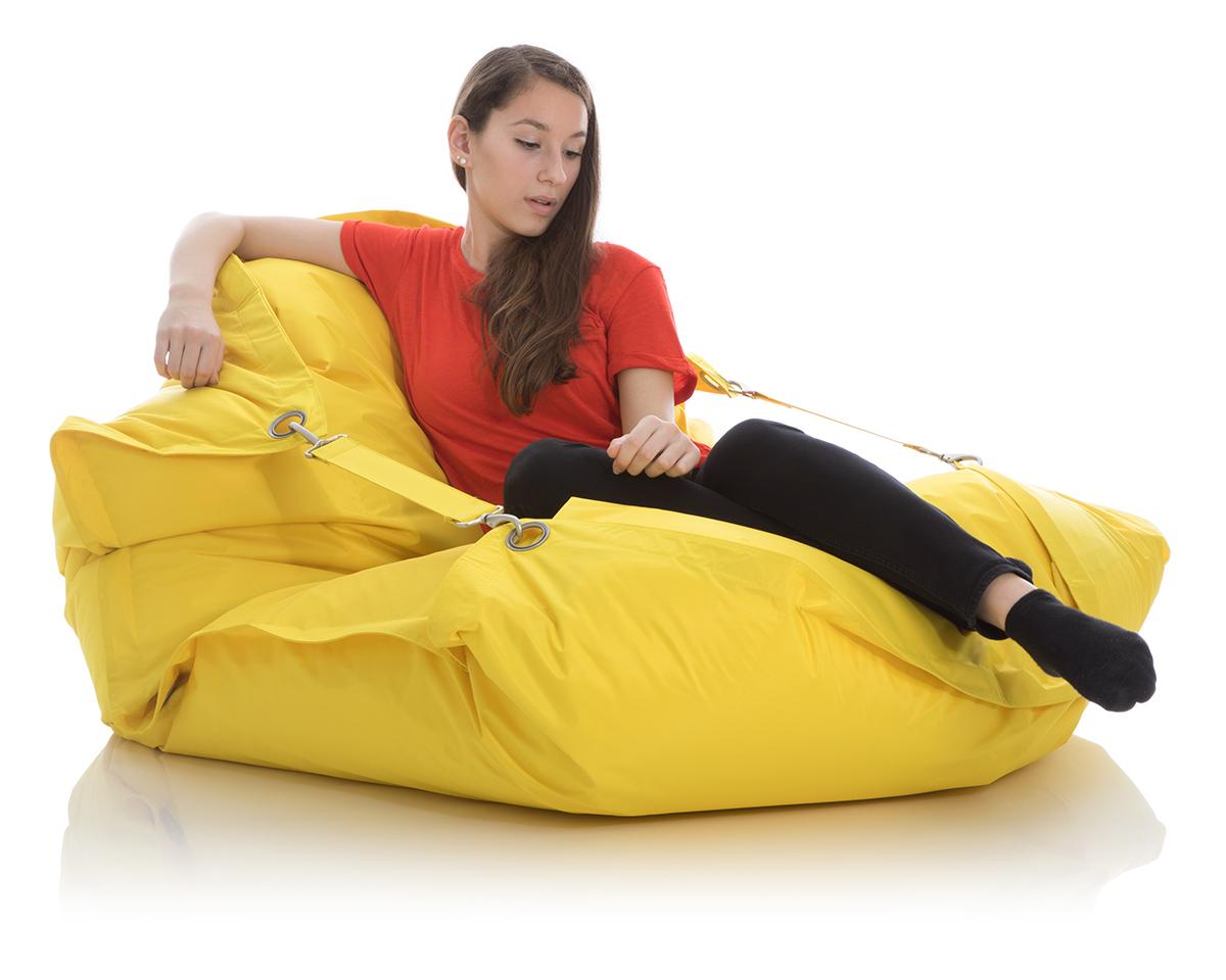XXL Outdoor Sitzsack gelb 140x200cm fuer Kinderzimmer und Garten