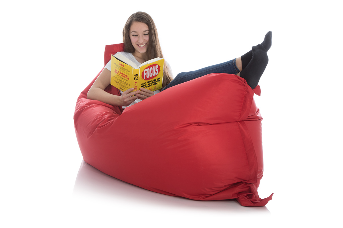 Sitzsack Sofa rot 140x180 cm bei frago kaufen