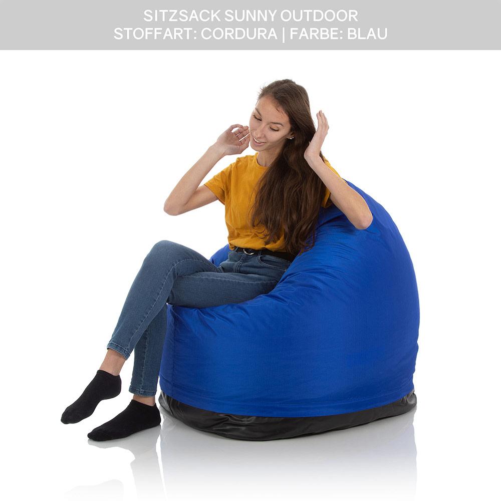 SitJoy Sunny Kinder Sitzsack Outdoor blau mit 500 Liter Füllung