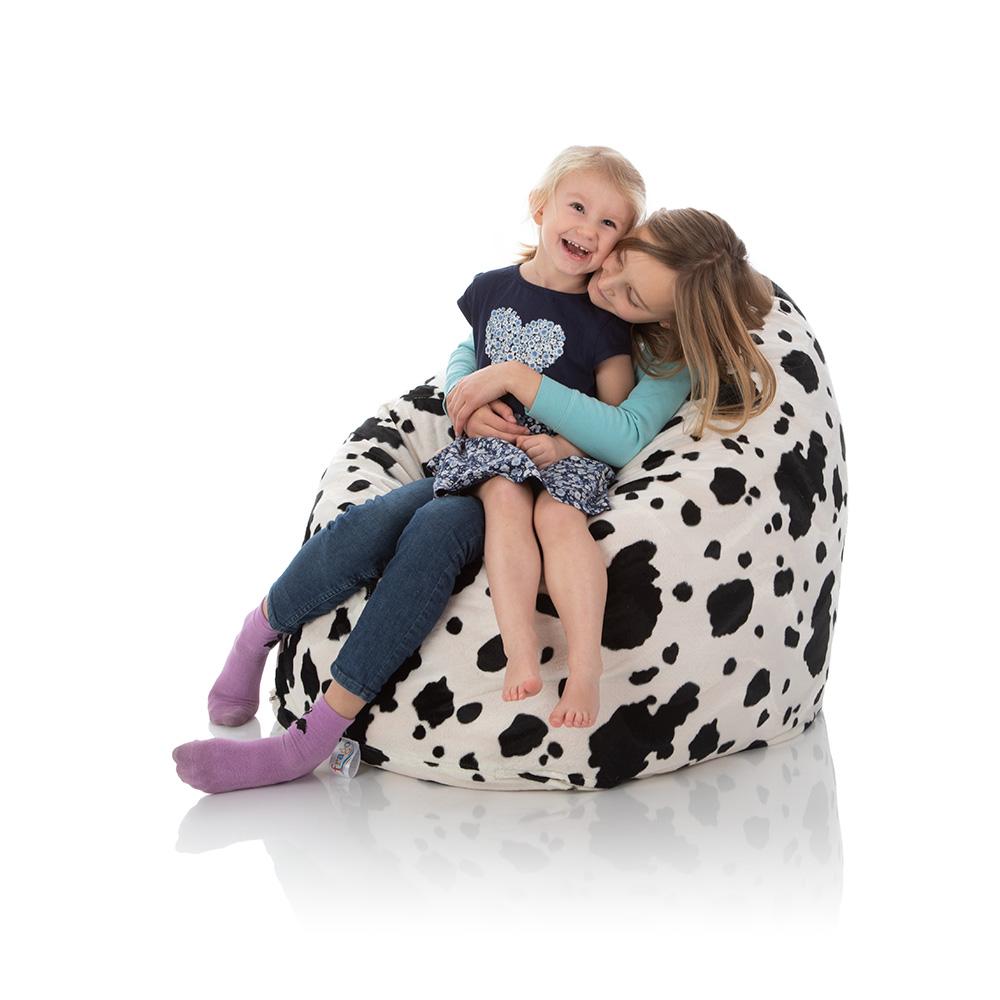 Plüsch Sitzsack schwarz-weiß für Kinder kaufen