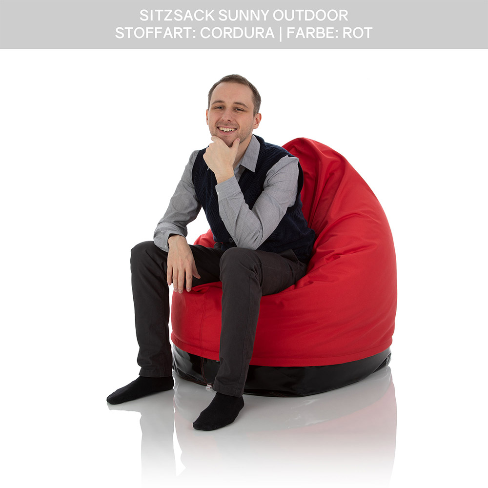 SitJoy Sunny Kinder Sitzsack Outdoor rot mit 500 Liter Füllung