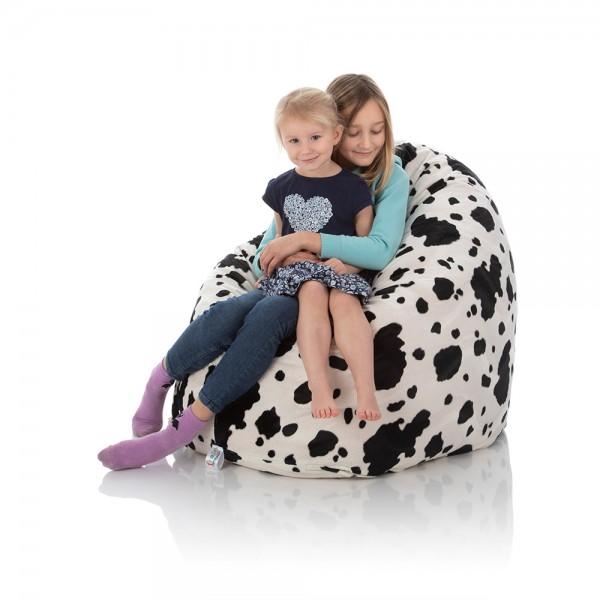Kinder-Sitzsack Kid   Plüsch   Kuh Schwarz-Weiß