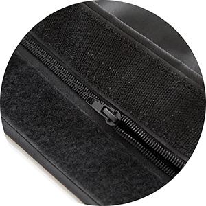 Reissverschluss und Klettverschluss fuer Outdoor Sitzsack schwarz aus Nylon