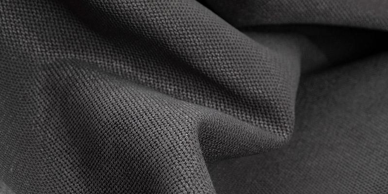 Nahaufnahme Sitzsack Stoff Anthrazit Grau Microfaser Strukturiert XXL Kissen Außenhüllen