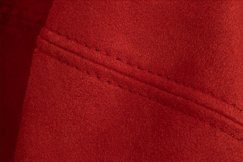 Sitzsack Doppelsteppnaht | Stoff: Microfaser Premium | Farbe: Bordeauxrot