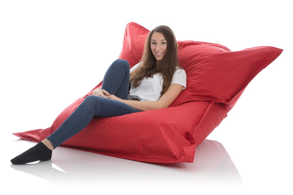Sitzsack Liegesack outdoor rot fuer Kinder und Jugendliche