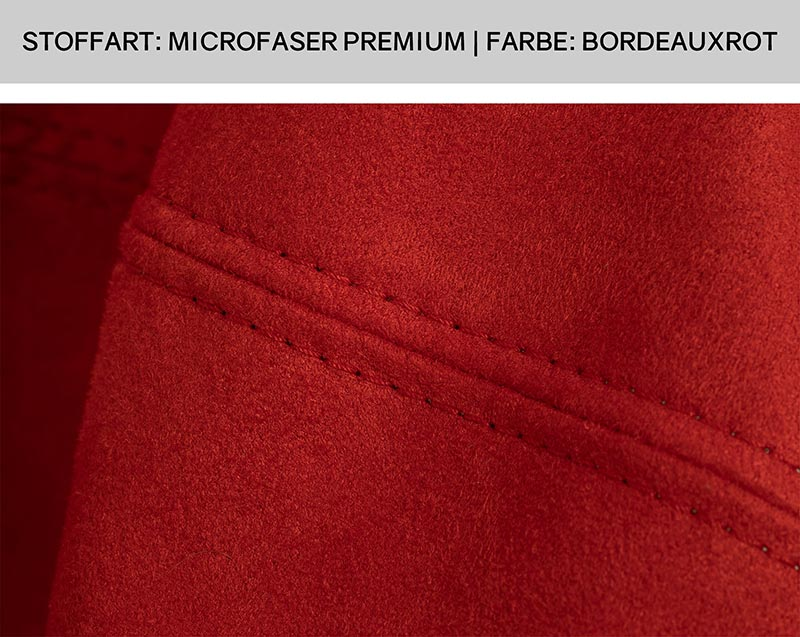 Sitzsack Doppelsteppnaht   Stoff: Microfaser Premium   Farbe: Bordeauxrot